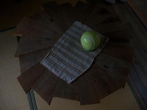 廃材の円卓